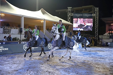 GCL of Cannes - Gregory Wathelet and Olivier Philippaerts of Paris Jets during the lap of honour