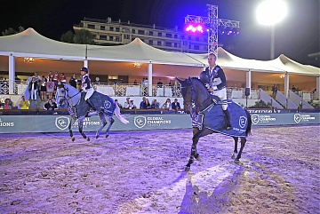GCL of Cannes - David Will and Pilar Lucrecia Cordon of Cascais Charms during the lap of honour