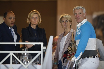 GCL of Cannes - Roger Yves Bost with his wife and guests watching the competition