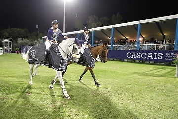 GCL of Cascais-Estoril - Team Vienna Eagles parades after winning the GCL of Cascais-Estoril