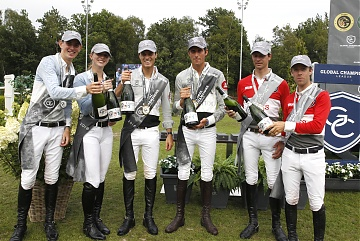 GCL of Valkenswaard - Prize giving ceremony - 1st Team Madrid in Motion, 2nd Team Antwerp Diamonds and 3rd Monaco Aces