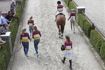 GCL of Valkenswaard - Team Shanghai Swans walking to the arena