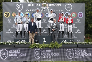 GCL of Valkenswaard - Prize giving ceremony - 1st Madrid in Motion, 2nd Antwerp Diamonds and 3rd Monaco Aces - Jan Tops