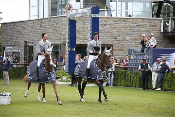 GCL of Valkenswaard - Team Madrid in Motion parades after winning GCL of Valkenswaard - Pedro Veniss and Alberto Zorzi