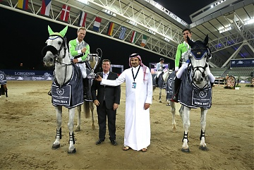 GCL of Doha -  Team Paris Jets - Nicola Philippaerts and Rolf Goran Bengtsson winners of GCL of Doha
