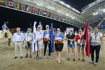 GCL of Doha -  A prize for the grooms of the first 3 classified teams