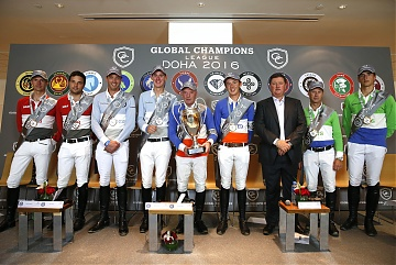 GCL of Doha -  Press conference - Daniel Bluman , Leopold van Asten, Harrie Smolders, Jos Verlooy, John Whitaker,Bertram Allen, Jan Tops,Rolf Goran Bengtsson and Nicola Philippaerts