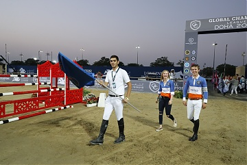 GCL of Doha -  GCL's teams parade - Team Valkenswaard United - Emily Moffit and Bertram Allen