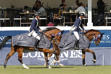Team Cannes Stars's Ludger Beerbaum and Marco Kutscher wins the class