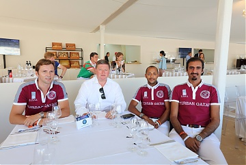 Jan Tops and Team Doha Fursan Qatar's Bassem Hassan Mohammed and Sheikh Ali Al Thani