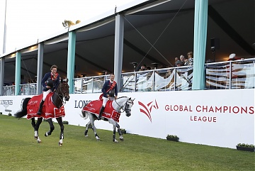 Lap of honour for Team Paris Panthers, winner of GCL of Cascais-Estoril