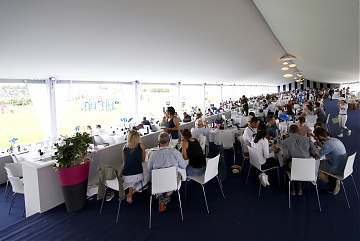 A view of the full VIP hospitality
