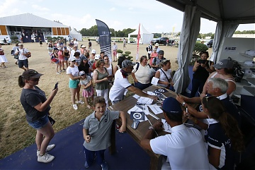 Autographs session for Chantilly Pegasus' riders Roger Yves Bost, Megane Moissonier and Carlos Lopez