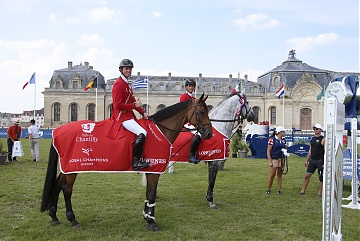 London Knights' Ben Maher and Nicola Philippaerts are the winners of GCL Chantilly