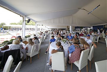 Packed VIP Hospitality during Round 2 of GCL London