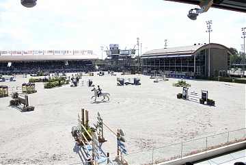 A view of the main sand arena of Tops International Arena
