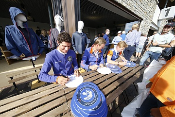 Autographs session for Team Valkenswaard United riders Alberto Zorzi, Maurice tebbel and Marcus Ehning