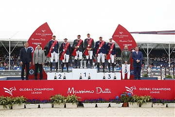 The Podium of GCL of Shanghai - 1st Monaco Aces,2nd Paris Panthers,3rd Prague Lions