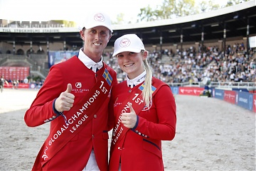 Team London Knights - Emily Moffitt (GBR) and Ben Maher (GBR)