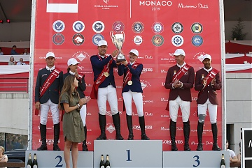 The Podium of GCL of Monaco . 1st Team Scandinavian Vikings,2nd Monaco Aces, 3rd Doha Falcons