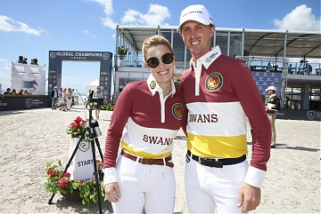 Janne Frederike Mayer and Ben Maher Team Shanghai Swans