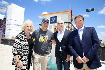 Miami Beach Mayor Philip Levine and Commissioner Joy Malakoff with Frank McCourt and Jan Tops