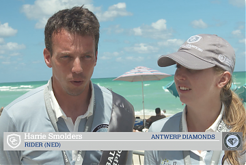GCL Miami Beach silver medallists - team Antwerp Diamonds