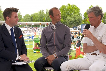In the Studio GCL Madrid: Ludger Beerbaum and Marco Kutscher