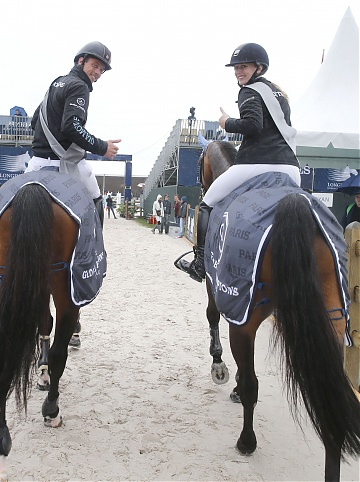 GCL of Paris - Team Antwerp Diamonds - Audrey Coulter on Alex and Harries Smolders on Capital Colnardo